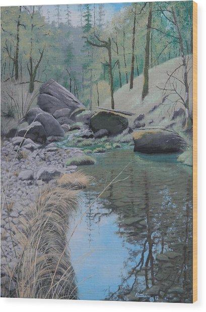 White Rock Creek Wood Print