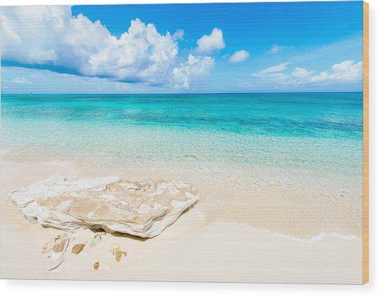 White Sand Wood Print
