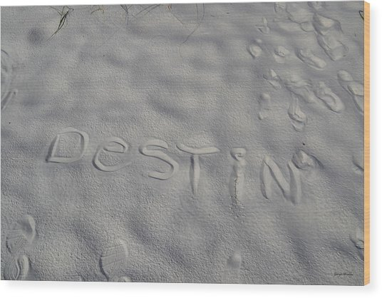 White Sand Of Destin 002 Wood Print