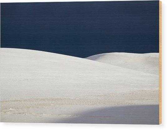 White Sands Dark Sky Wood Print