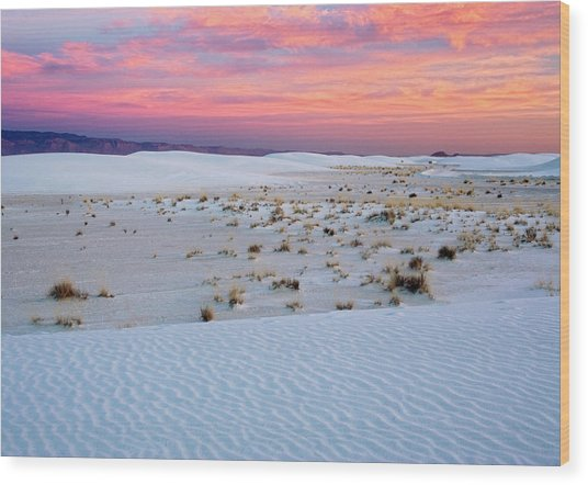 White Sands National Monument Wood Print by Bob Gibbons/science Photo Library