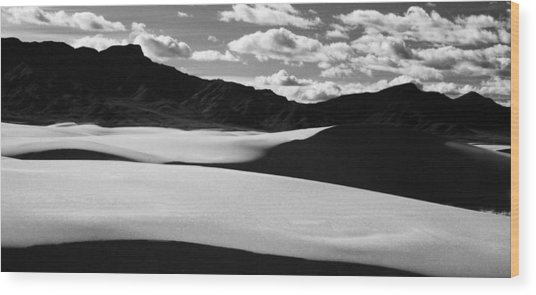 90163 White Sands Nm Wood Print