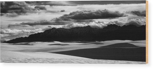 White Sands Nm Panorama Wood Print
