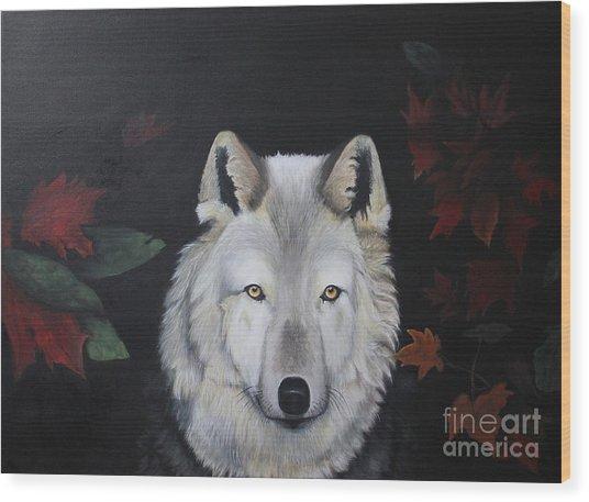 White Shaqdow Wood Print