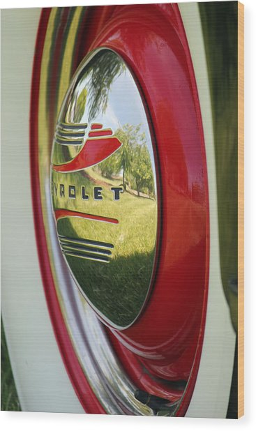 White Sidewalls On Chevy Wood Print