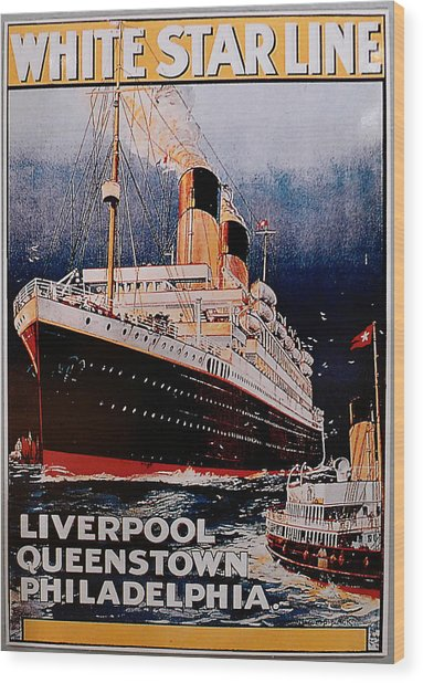 White Star Line Poster 1 Wood Print