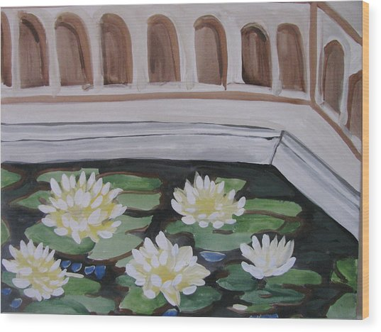 White Water Lilies Wood Print by Vikram Singh