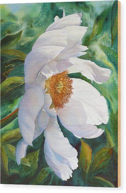 White Wonder Wood Print