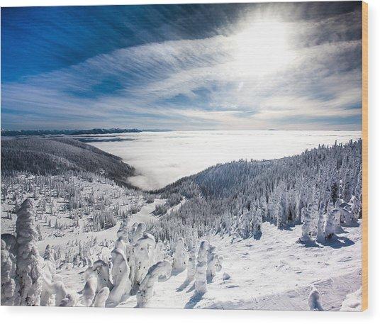 Whitefish Inversion Wood Print
