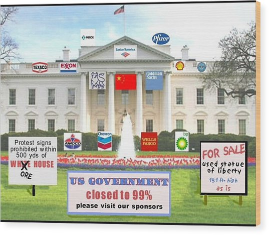 Whitehouse Sponsors  Wood Print by Robert Stagemyer