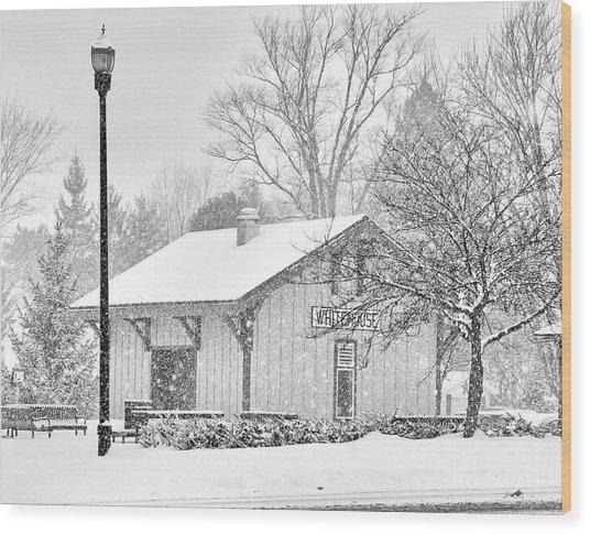 Whitehouse Train Station Wood Print