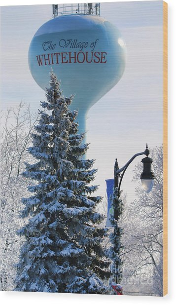 Whitehouse Water Tower  7361 Wood Print