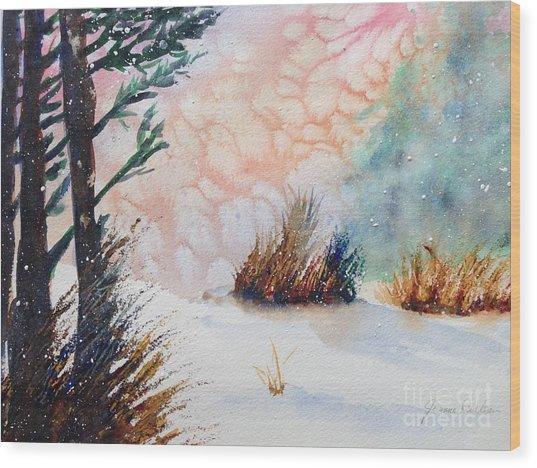 Whiteout Wood Print
