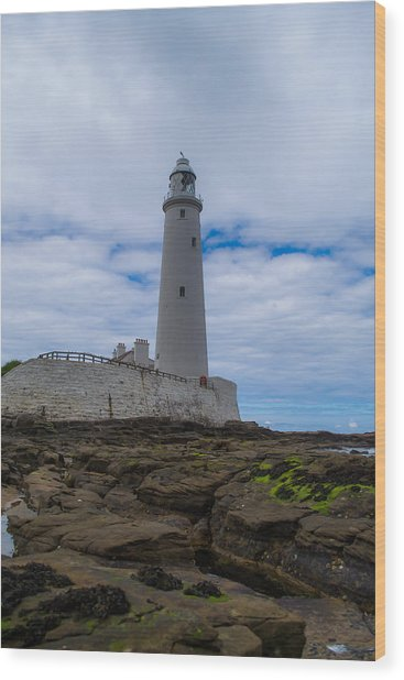 Whitley Bay St Mary's Lighthouse Wood Print