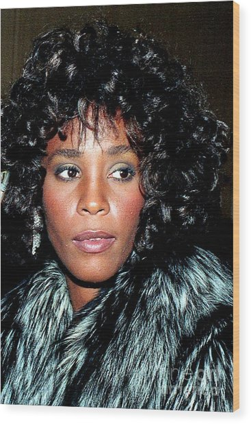 Whitney Houston 1989 Wood Print