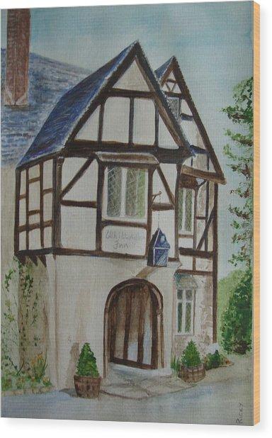 Whittington Inn - Painting Wood Print
