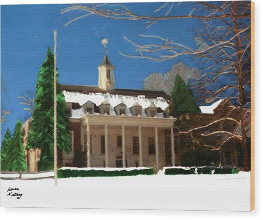 Whittle Hall In The Winter Wood Print