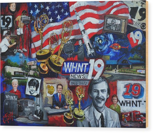 Whnt 50 Years Wood Print