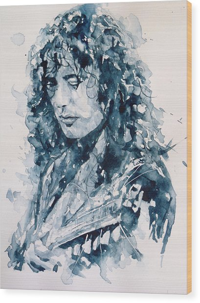 Whole Lotta Love Jimmy Page Wood Print