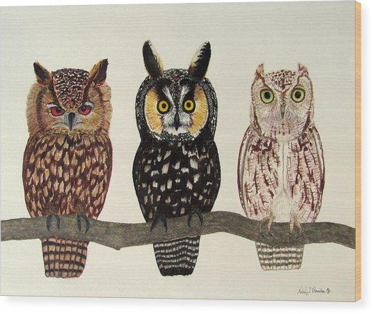 Who's Who Wood Print by Nicole I Hamilton