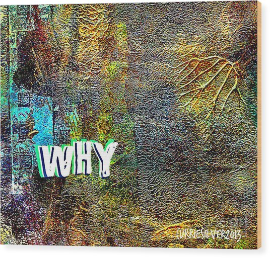 Why Wood Print by Currie Silver