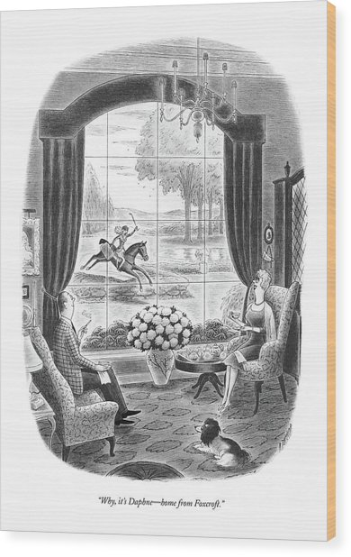 Why, It's Daphne - Home From Foxcroft Wood Print