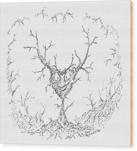 Wicked Heart Wood Print by Dan Haley
