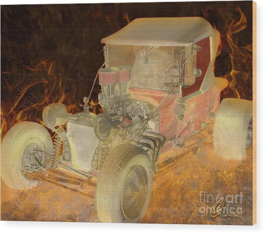 Wicked Ride Wood Print