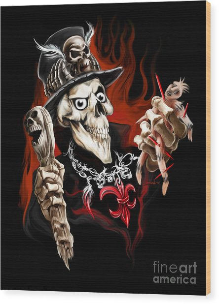 Wicked Voodoo Doctor Wood Print