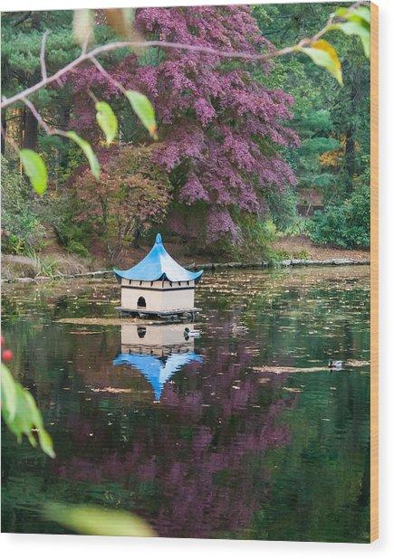 Wickham Oriental Pond Wood Print