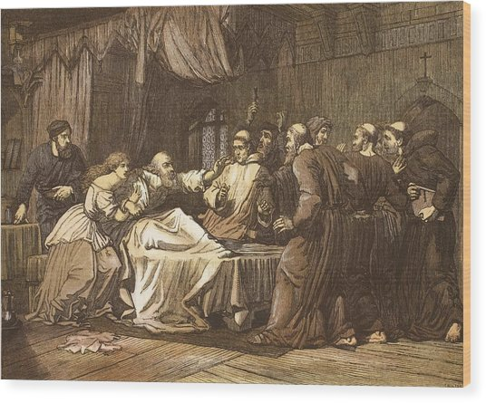 Wicliffe On His Death Bed Assailed Wood Print