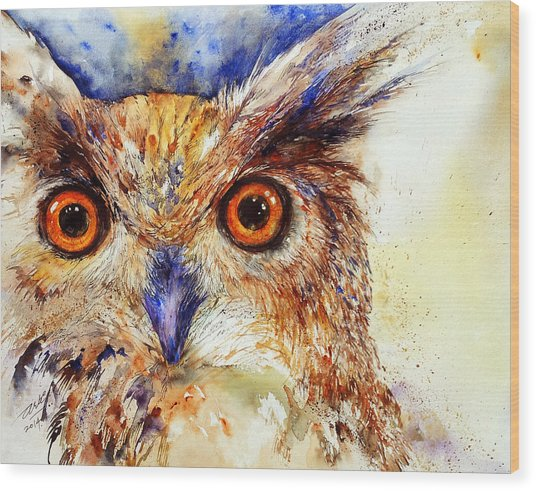 Wide Eyed_ The Owl Wood Print