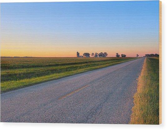 Wide Open Roads - Rural Georgia Landscape Wood Print by Mark E Tisdale