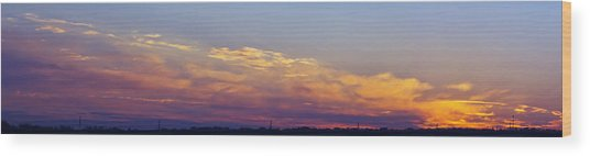 Wide Sunset Panorama Wood Print