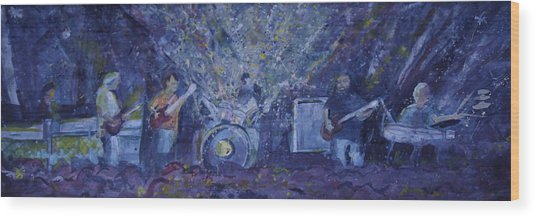 Widespread Panic Painted Live Two Wood Print