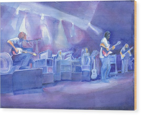 Widespread Panic With Michael Houser  Wood Print