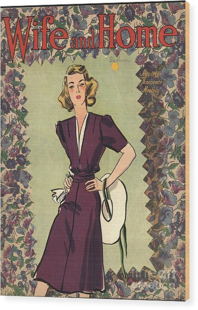 Wife And Home 1940s Uk Womens Magazines Wood Print by The Advertising Archives