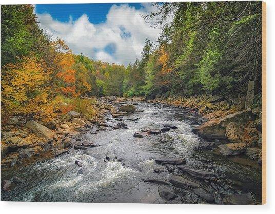 Wild Appalachian River Wood Print