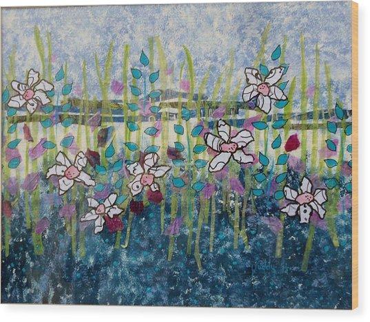 Wild Flowers 4 Wood Print