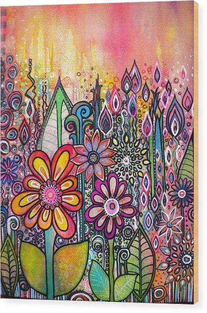 Wild Flowers Wood Print by Robin Mead