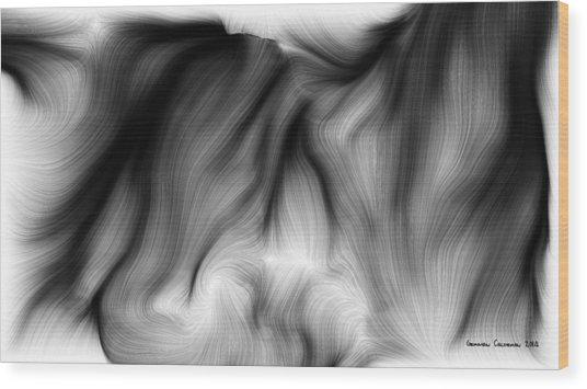Wild Hair 1 Wood Print by German Calderon