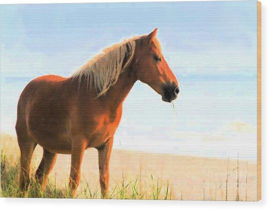 Wild Horses Can't Tear Me Away Wood Print