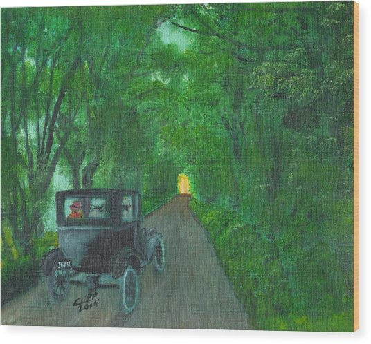 Wild Irish Roads Wood Print