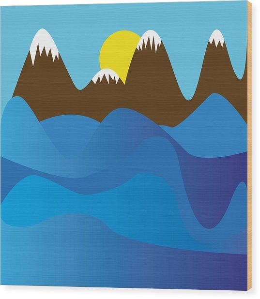 Wild Ocean Wood Print by Kenneth Feliciano