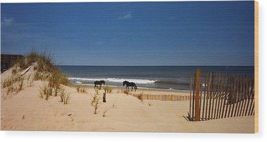Wild On The Beach Wood Print
