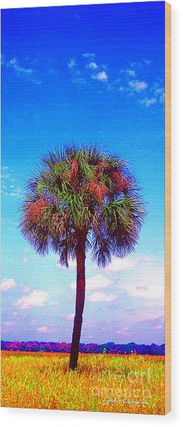 Wild Palm 1 Wood Print