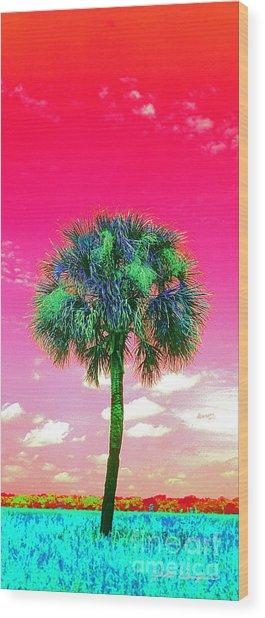 Wild Palm 2 Wood Print