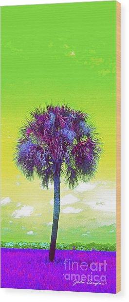 Wild Palm 3 Wood Print