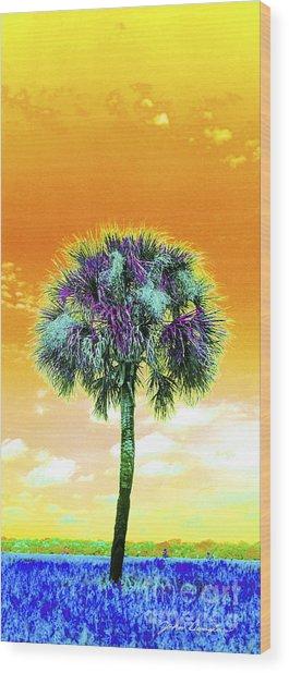 Wild Palm 5 Wood Print