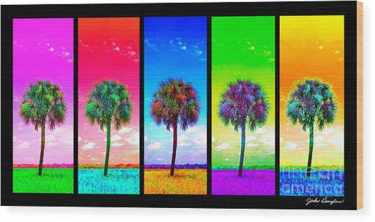 Wild Palms X5 Wood Print